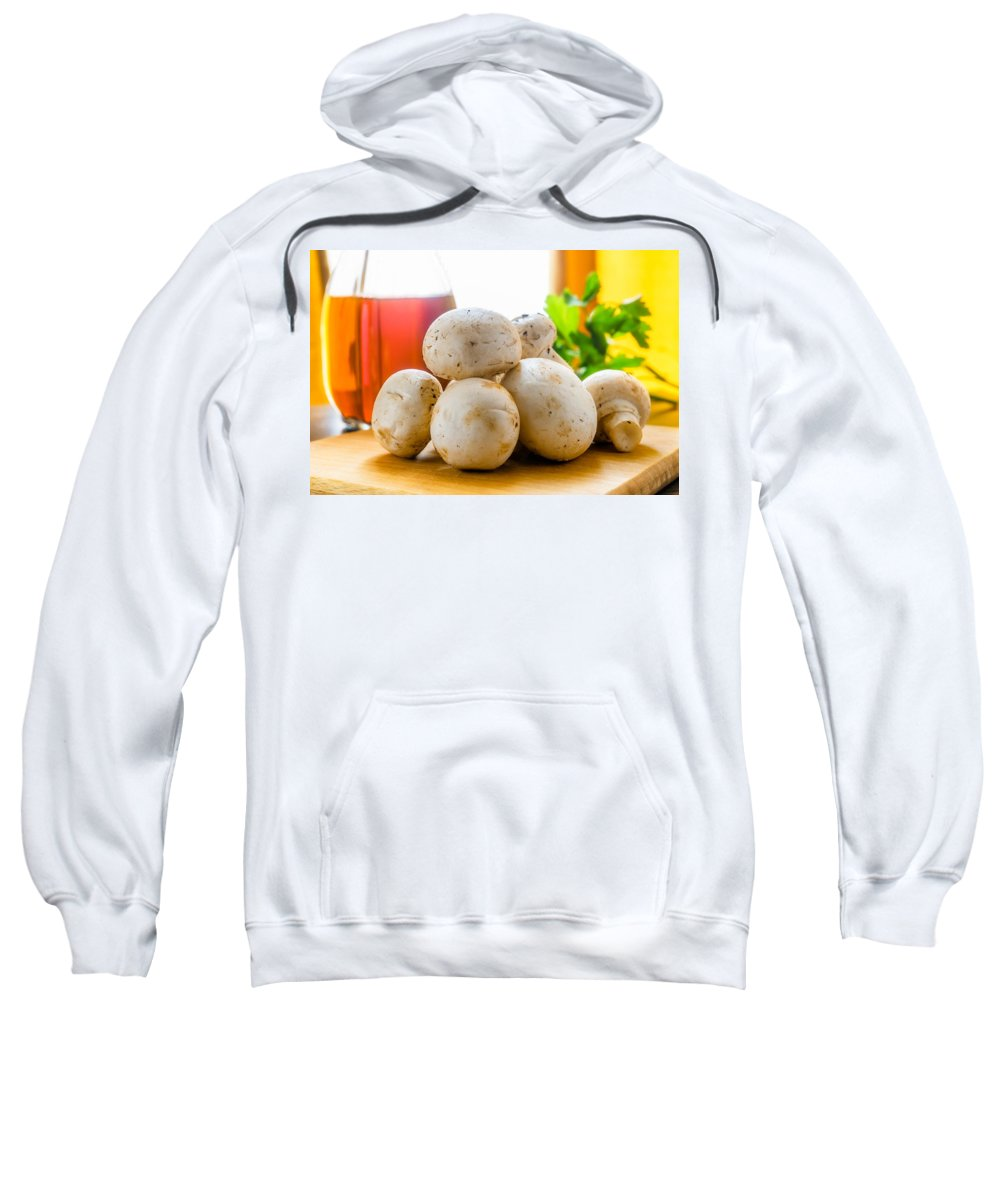 Agaricus Sweatshirt featuring the photograph Whole Champignons by Alain De Maximy
