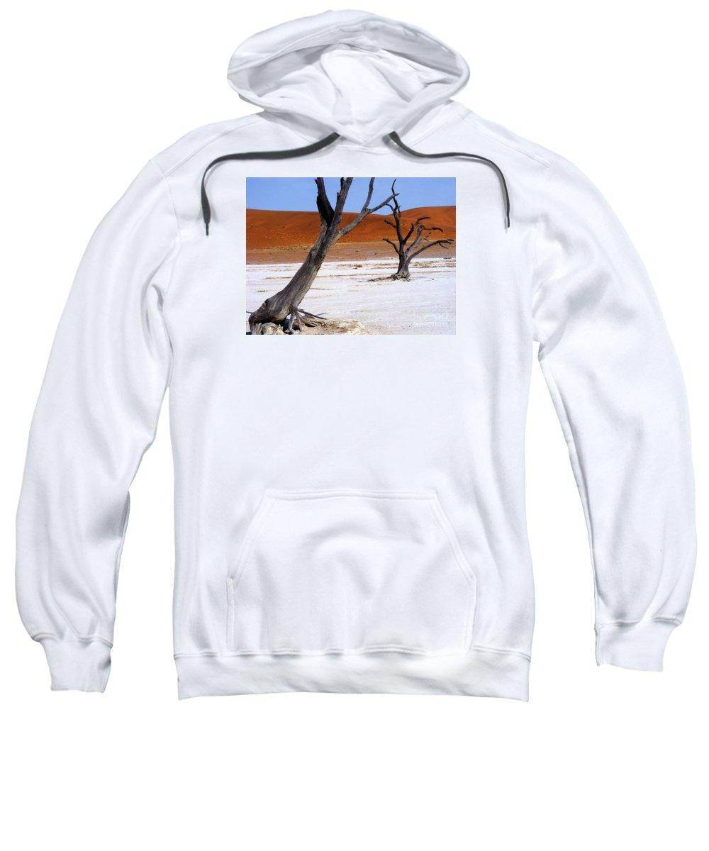 Trees Sweatshirt featuring the photograph Wild Dead Vlei by Noa Yerushalmi