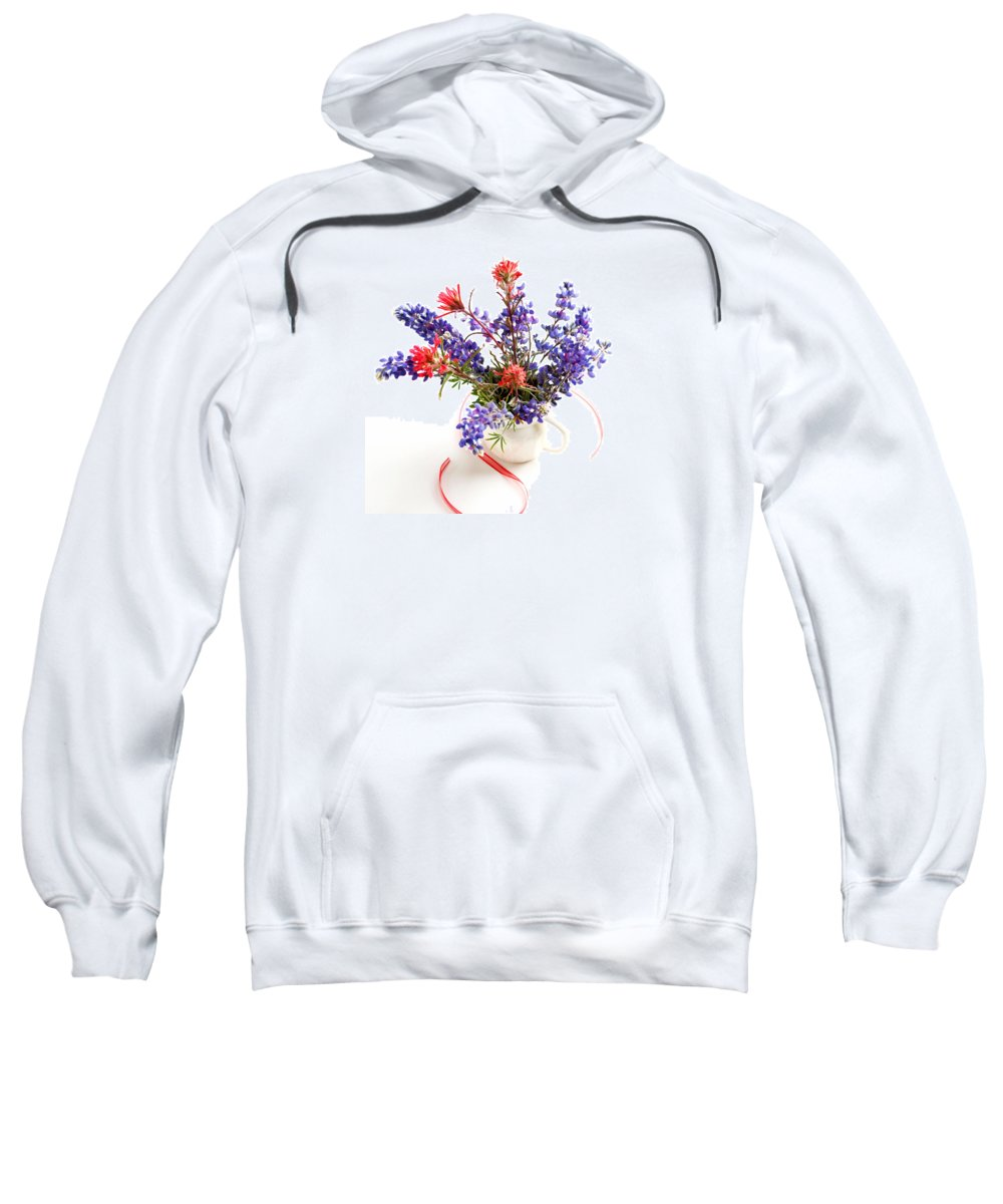 Wildflower Sweatshirt featuring the photograph Wildflowers by Art Block Collections