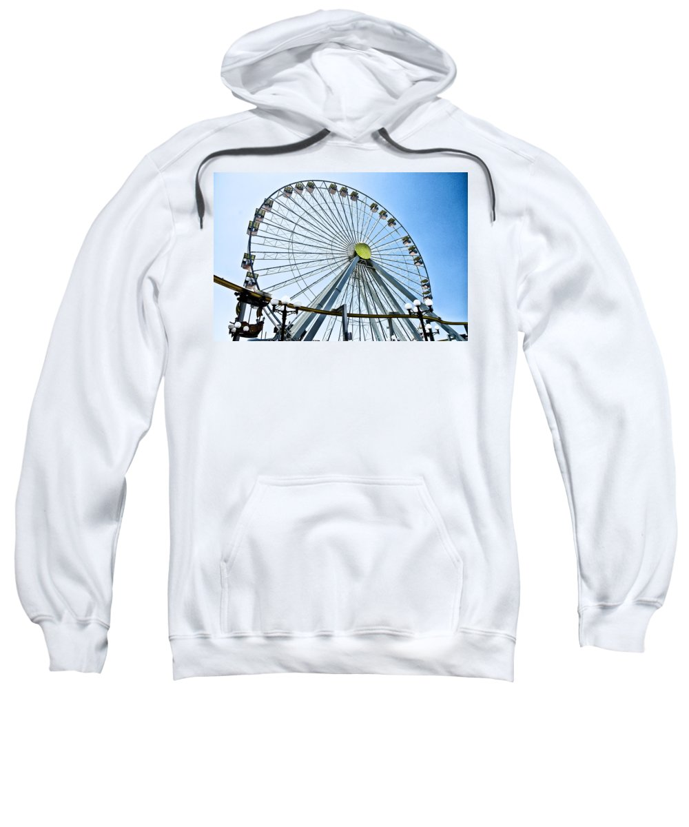 Wildwood Ferris Wheel Sweatshirt featuring the photograph Wildwood Ferris Wheel by Bill Cannon