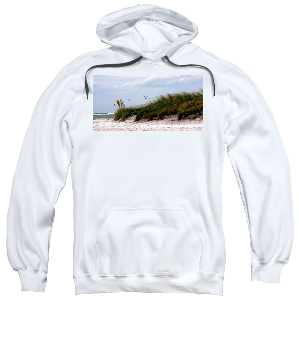 Beach Sweatshirt featuring the photograph Wind In The Seagrass by Ian MacDonald
