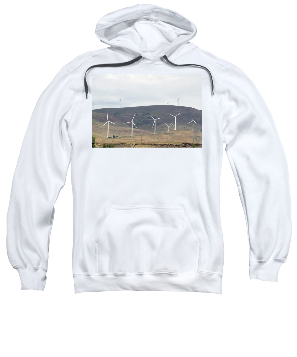 Wind Sweatshirt featuring the photograph Wind Turbine Power Farm by Jit Lim