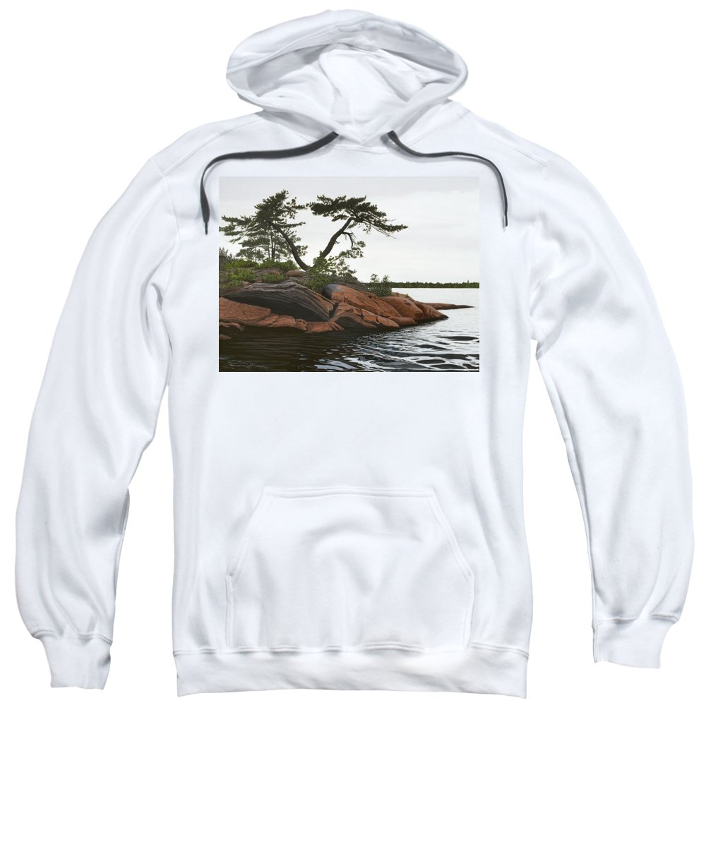 Landscape Paintings Sweatshirt featuring the painting Windswept by Kenneth M Kirsch