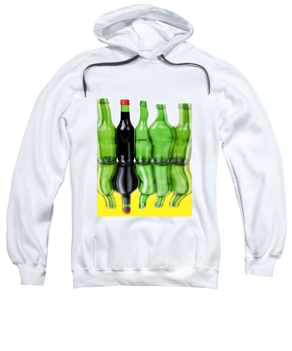 Bottle Sweatshirt featuring the photograph Wine Bottles by Chevy Fleet
