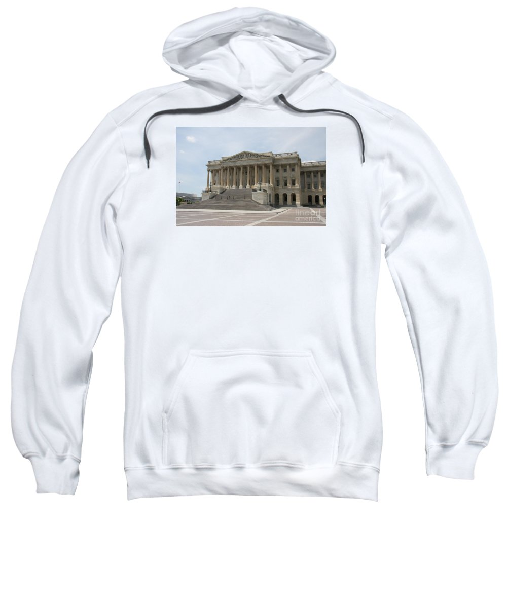 Captiol Sweatshirt featuring the photograph Wing Of The Capitol - Washington Dc by Christiane Schulze Art And Photography