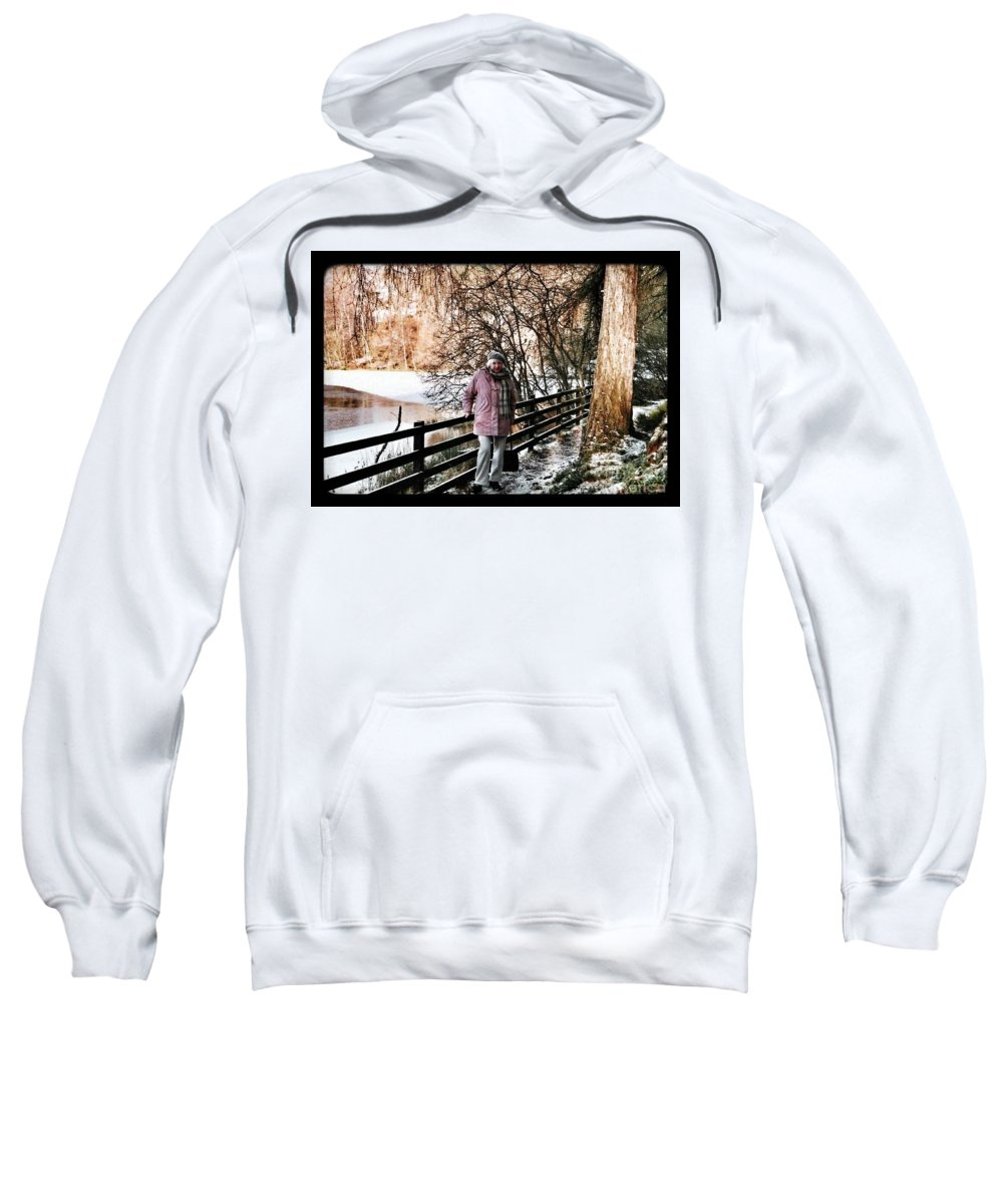 Winter Sweatshirt featuring the photograph Winter At Frozen Lochside by Joan-Violet Stretch