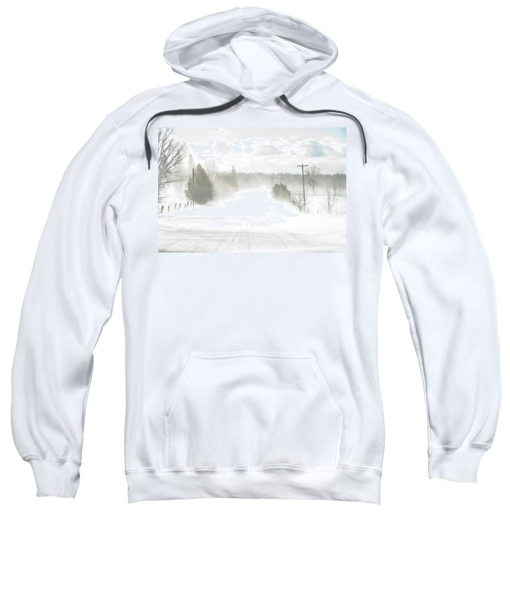 Landscapes Sweatshirt featuring the photograph Winter Driving by Cheryl Baxter