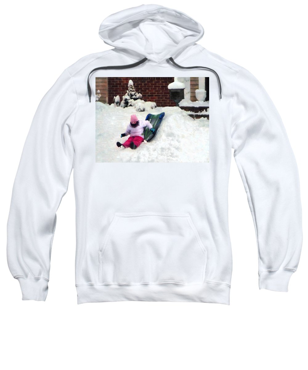 Winter Sweatshirt featuring the photograph Winter Fun by Susan Savad