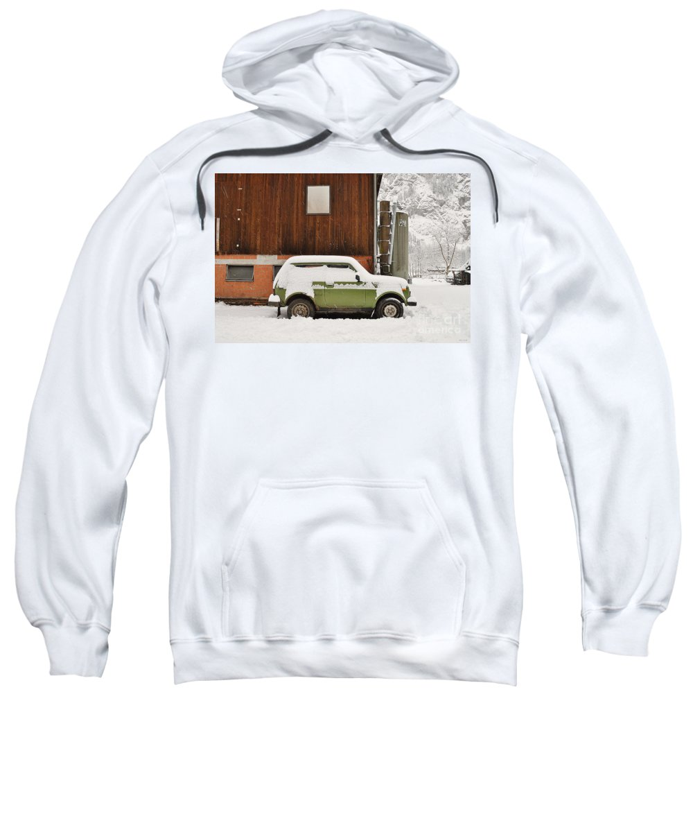 Alps Sweatshirt featuring the photograph Under Snow by Felicia Tica