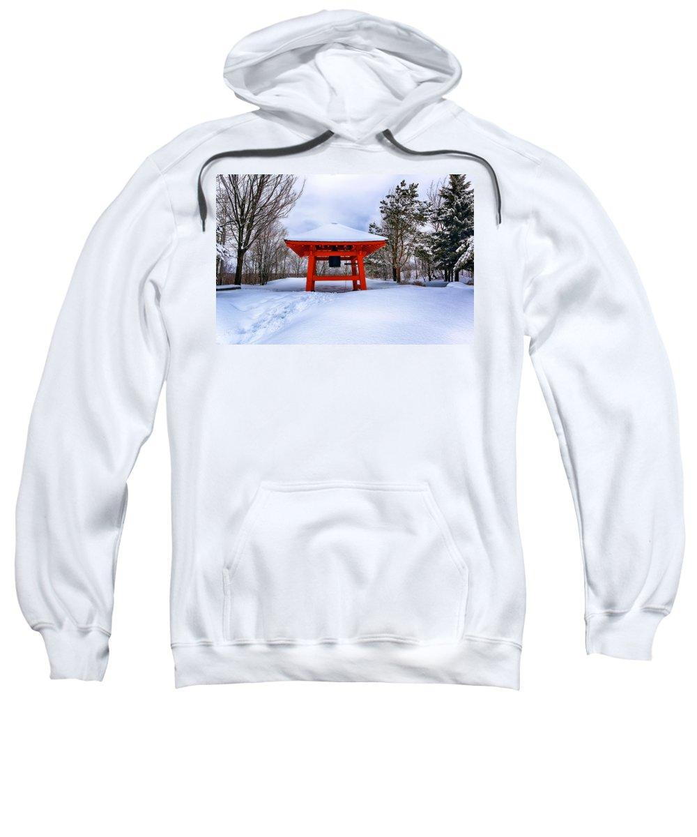 Winter Sweatshirt featuring the photograph Winter Peace Bell by Bryan Benson