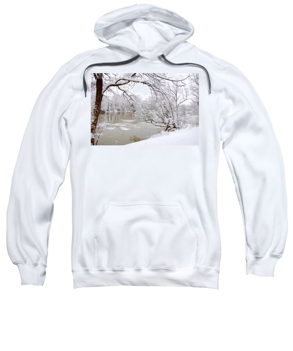 Snow Sweatshirt featuring the photograph Winter Wonderland by Tracy Winter