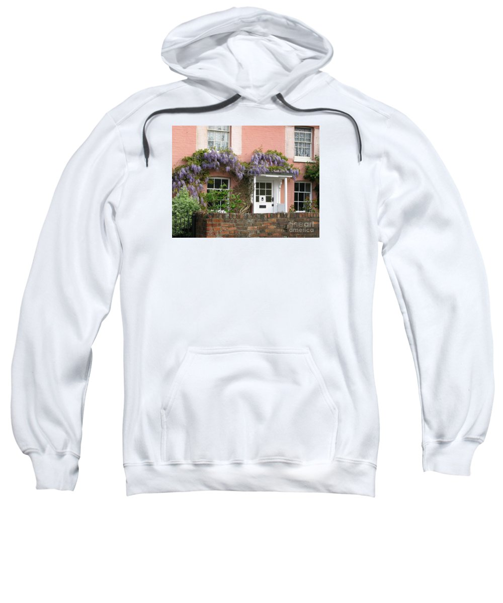 Wisteria Sweatshirt featuring the photograph Wisteria House by Ann Horn