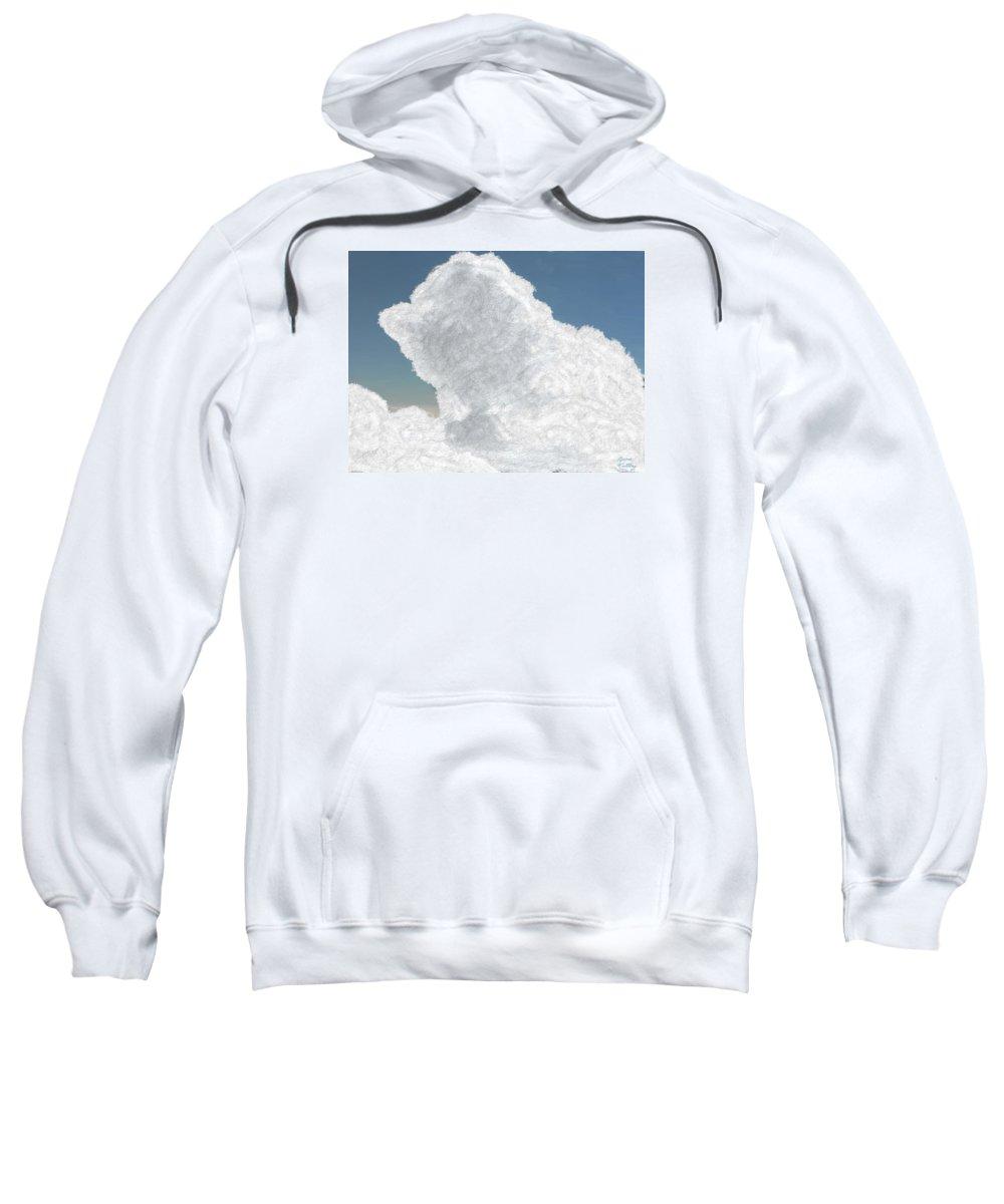 Cloud Sweatshirt featuring the painting Wolkentoren Cloud by Bruce Nutting