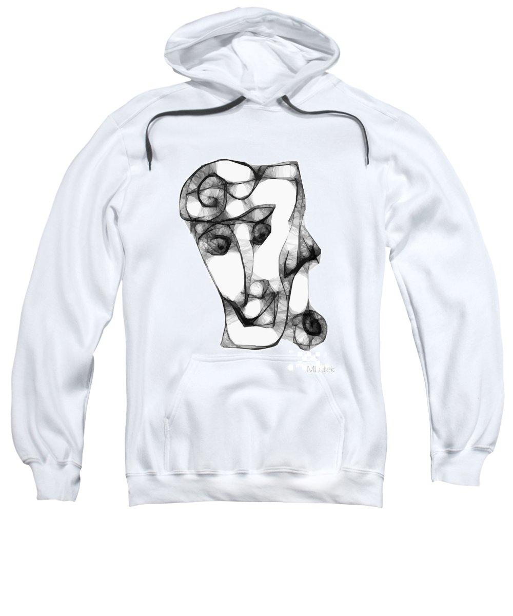 Women Sweatshirt featuring the digital art Women 653 - Marucii by Marek Lutek