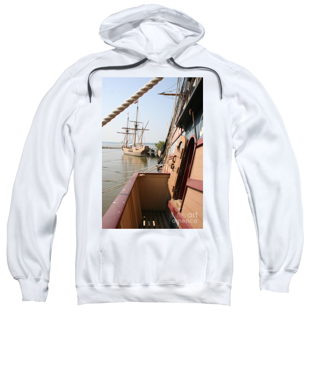 Ship Sweatshirt featuring the photograph Wooden Sailingships by Christiane Schulze Art And Photography