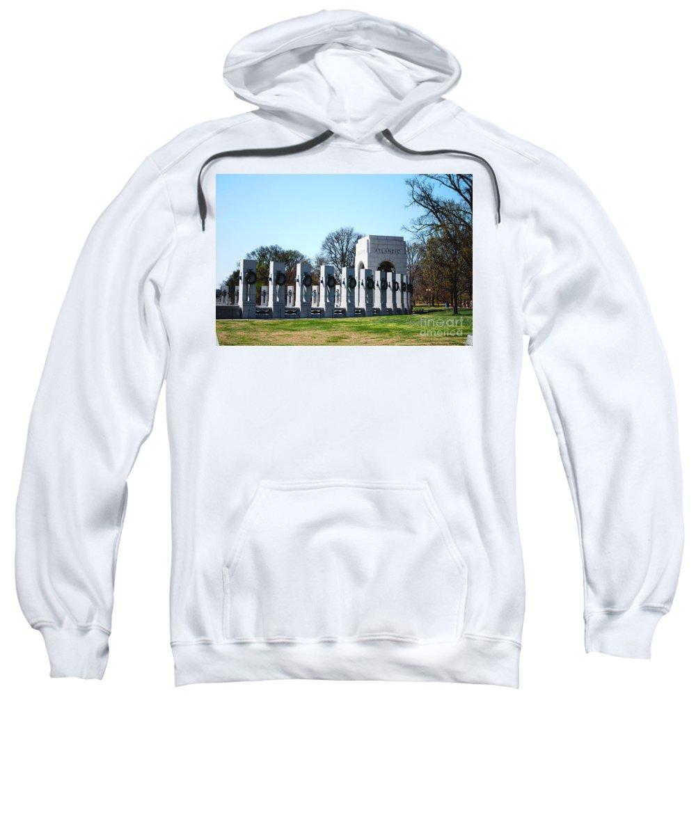 World War Ii Sweatshirt featuring the photograph World War II Memorial by DejaVu Designs