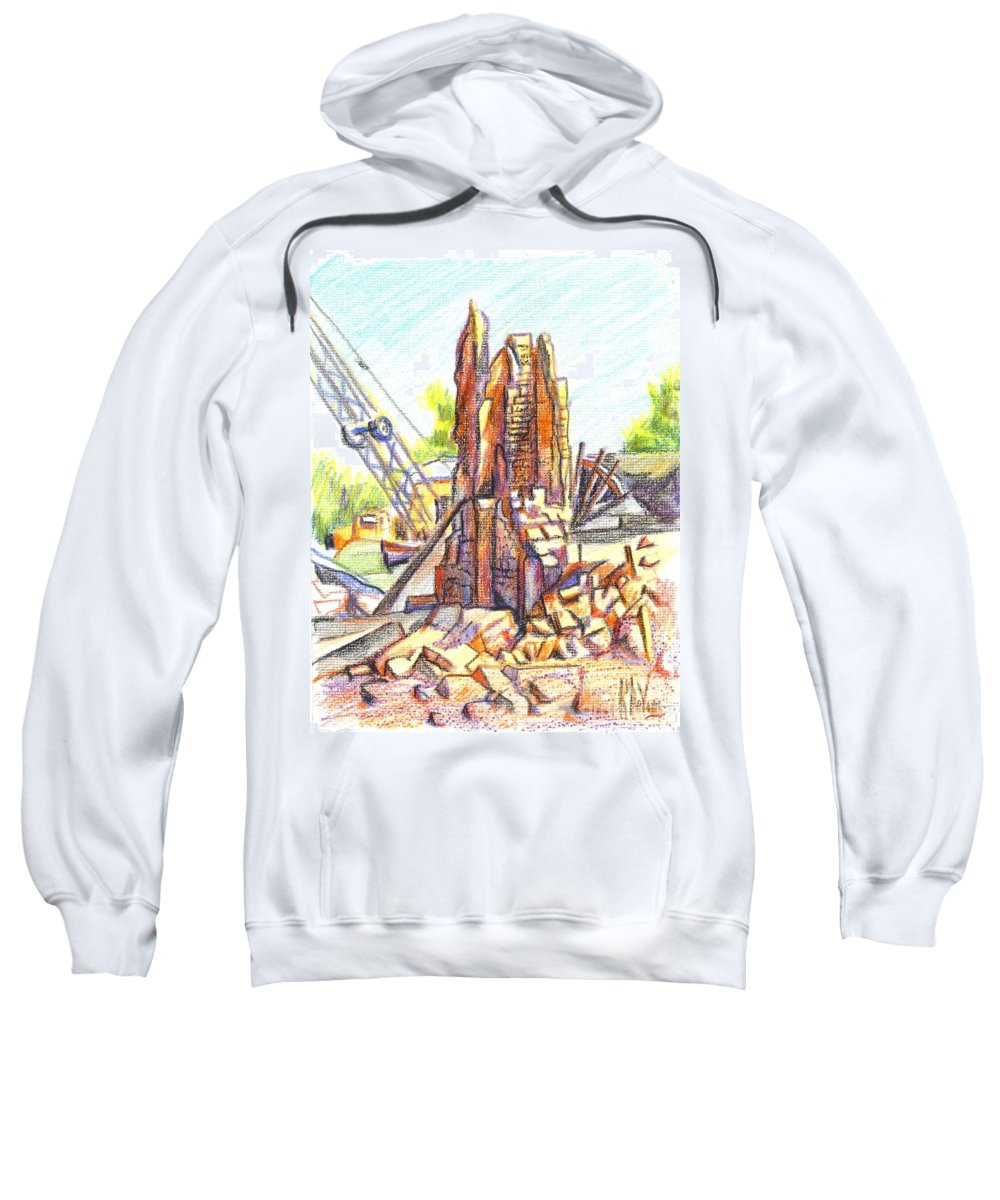 Wrecking Ball Sweatshirt featuring the painting Wrecking Ball by Kip DeVore
