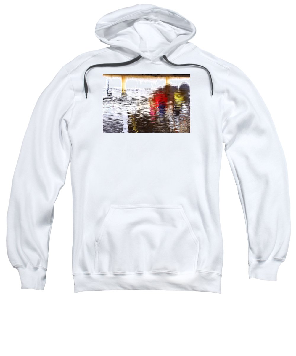 Floating Sweatshirt featuring the photograph Floating On Blue 31 by Wendy Wilton