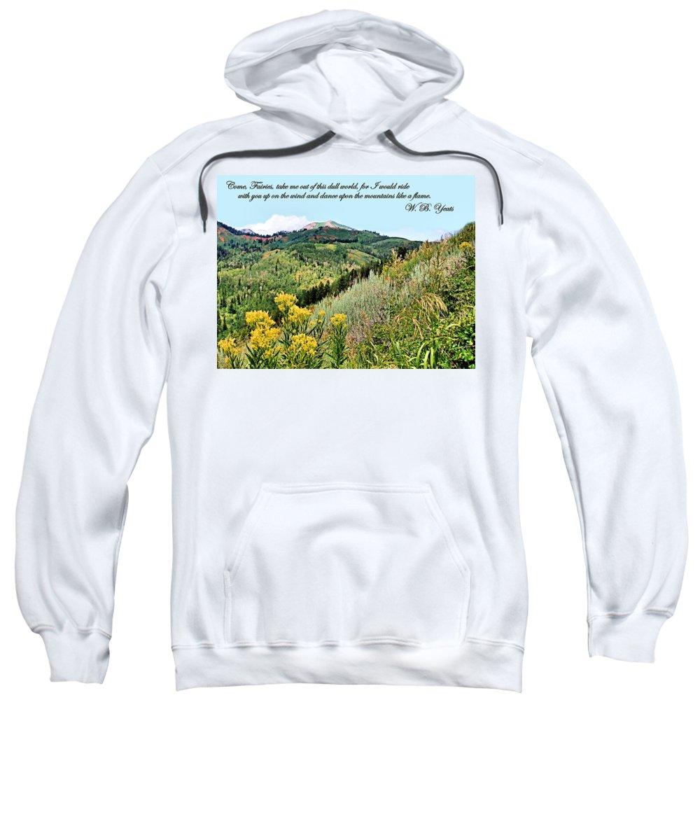 Yeats Sweatshirt featuring the photograph Yeats by Kristin Elmquist