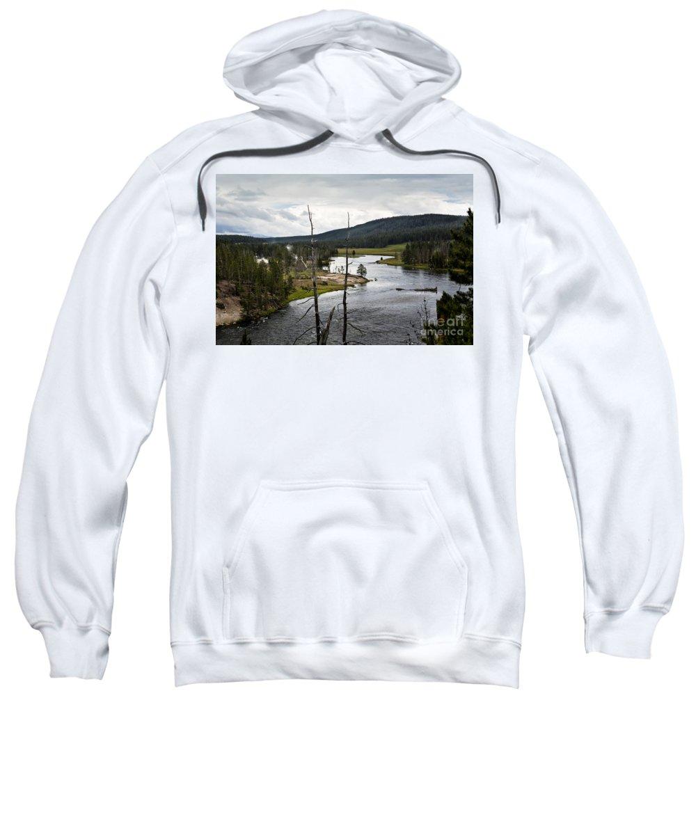 Yellowstone River Sweatshirt featuring the photograph Yellowstone River by Belinda Greb