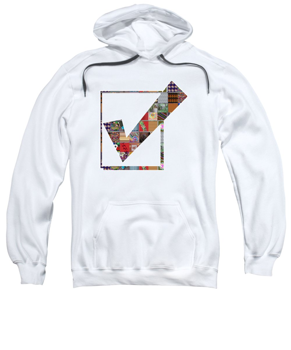 Yes Sweatshirt featuring the painting Yes Positive Symbol Showcasing Navinjoshi Gallery Art Icons Buy Faa Products Or Download For Self Pr by Navin Joshi