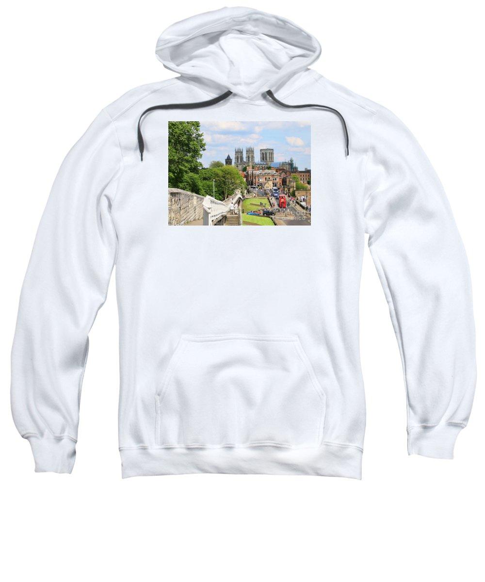 York Sweatshirt featuring the photograph York England 6180 by Jack Schultz