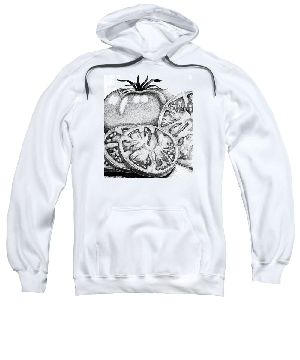 Ink Sweatshirt featuring the painting You Say Tomatoes.... by Marilyn Healey