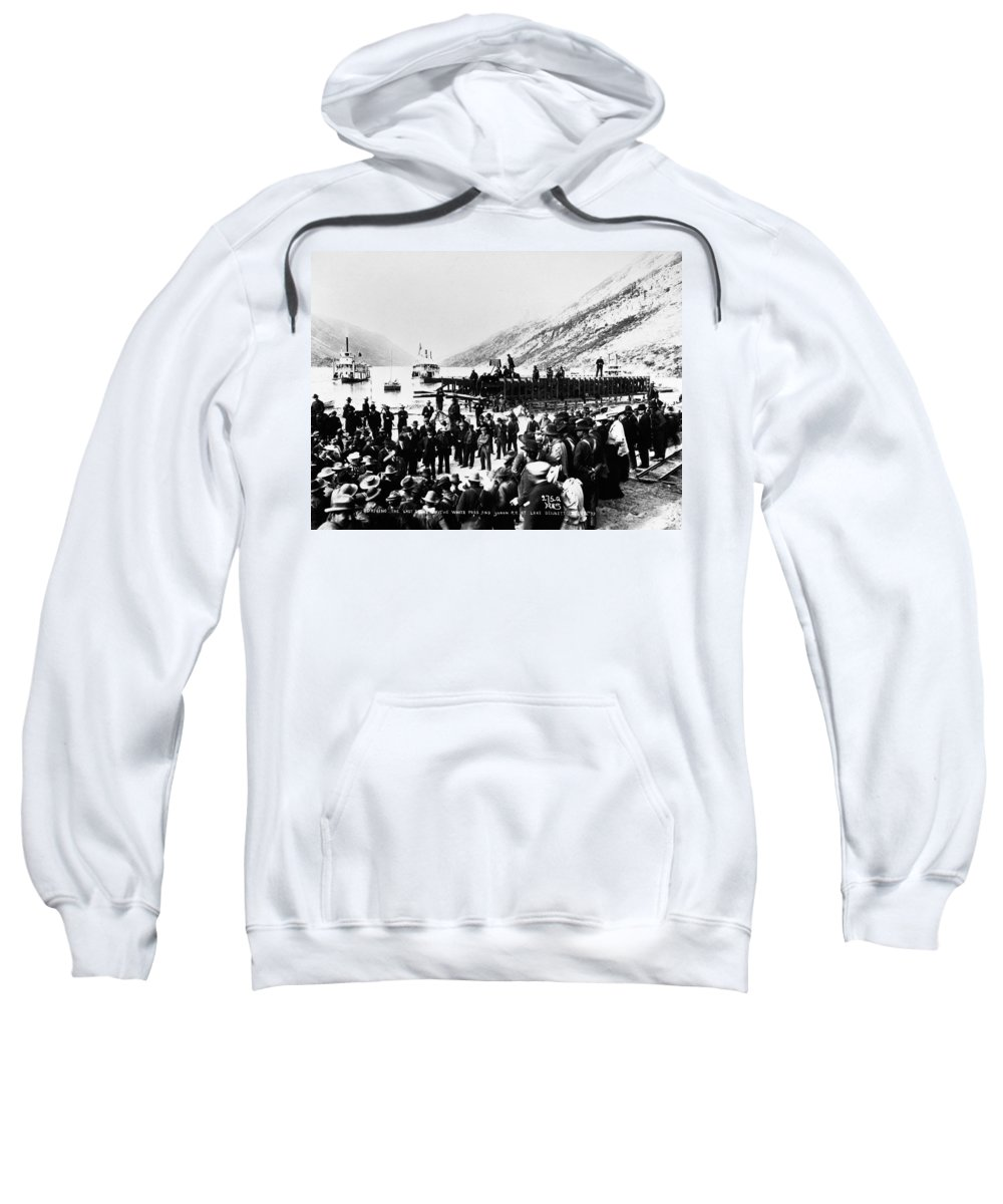 542e9c16e0c0f 1900 Sweatshirt featuring the photograph Yukon Railroad, 1900 by Granger