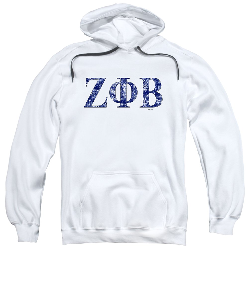 Zeta Phi Beta Sweatshirt featuring the digital art Zeta Phi Beta - White by Stephen Younts