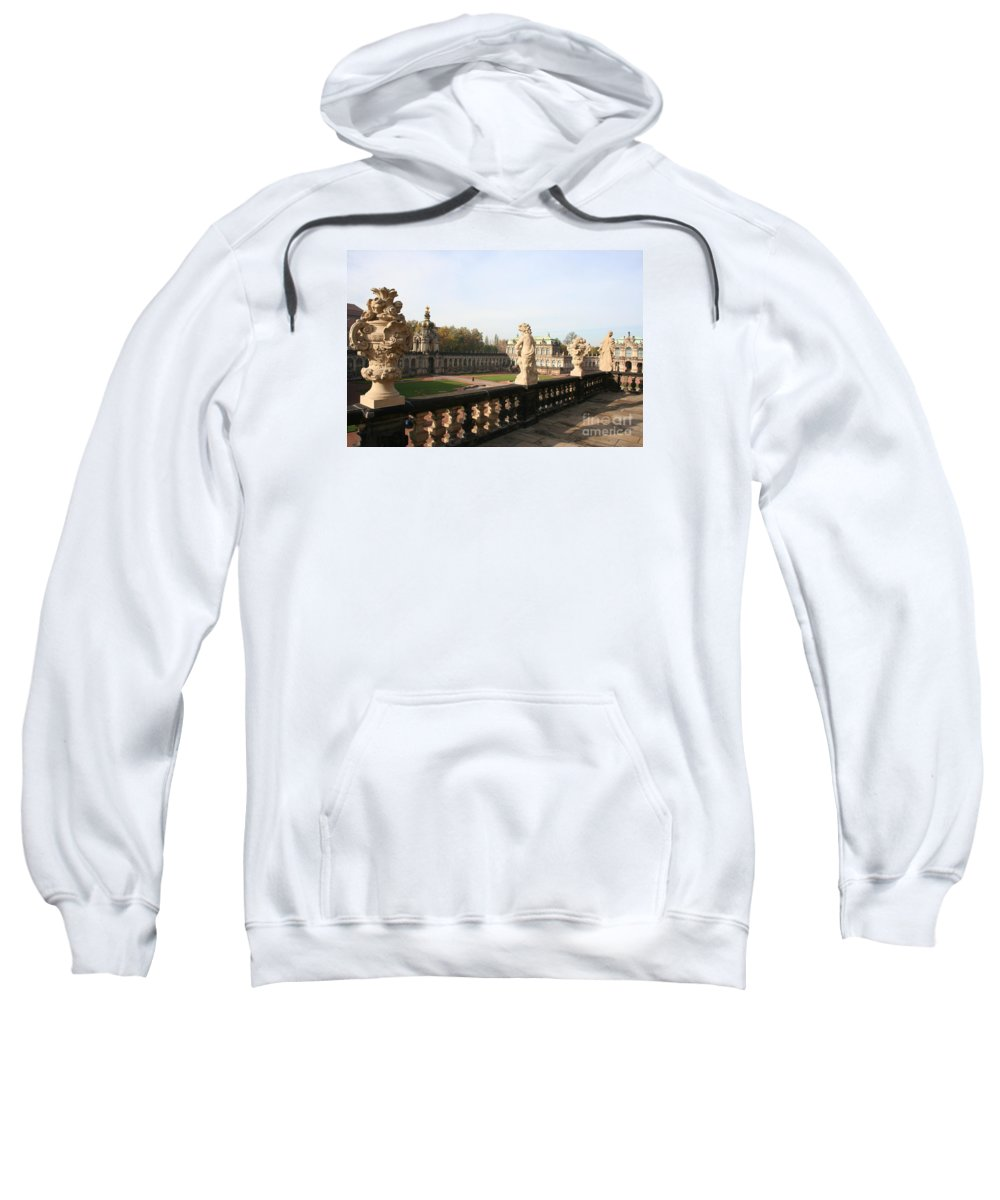 Zwinger Sweatshirt featuring the photograph Zwinger Courtyard Dresden by Christiane Schulze Art And Photography