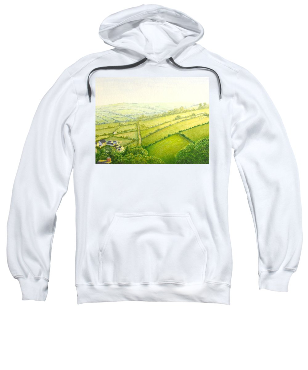 Country Sweatshirt featuring the painting ... And Think Of England. by Norm Holmberg