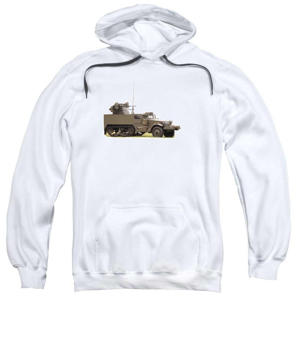 Air Sweatshirt featuring the photograph M16 Halftrack by Paul Fell