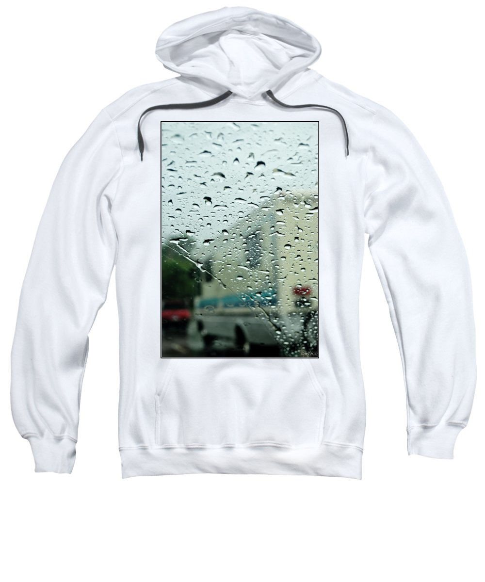 Sweatshirt featuring the photograph 02 Crying Skies by Michael Frank Jr