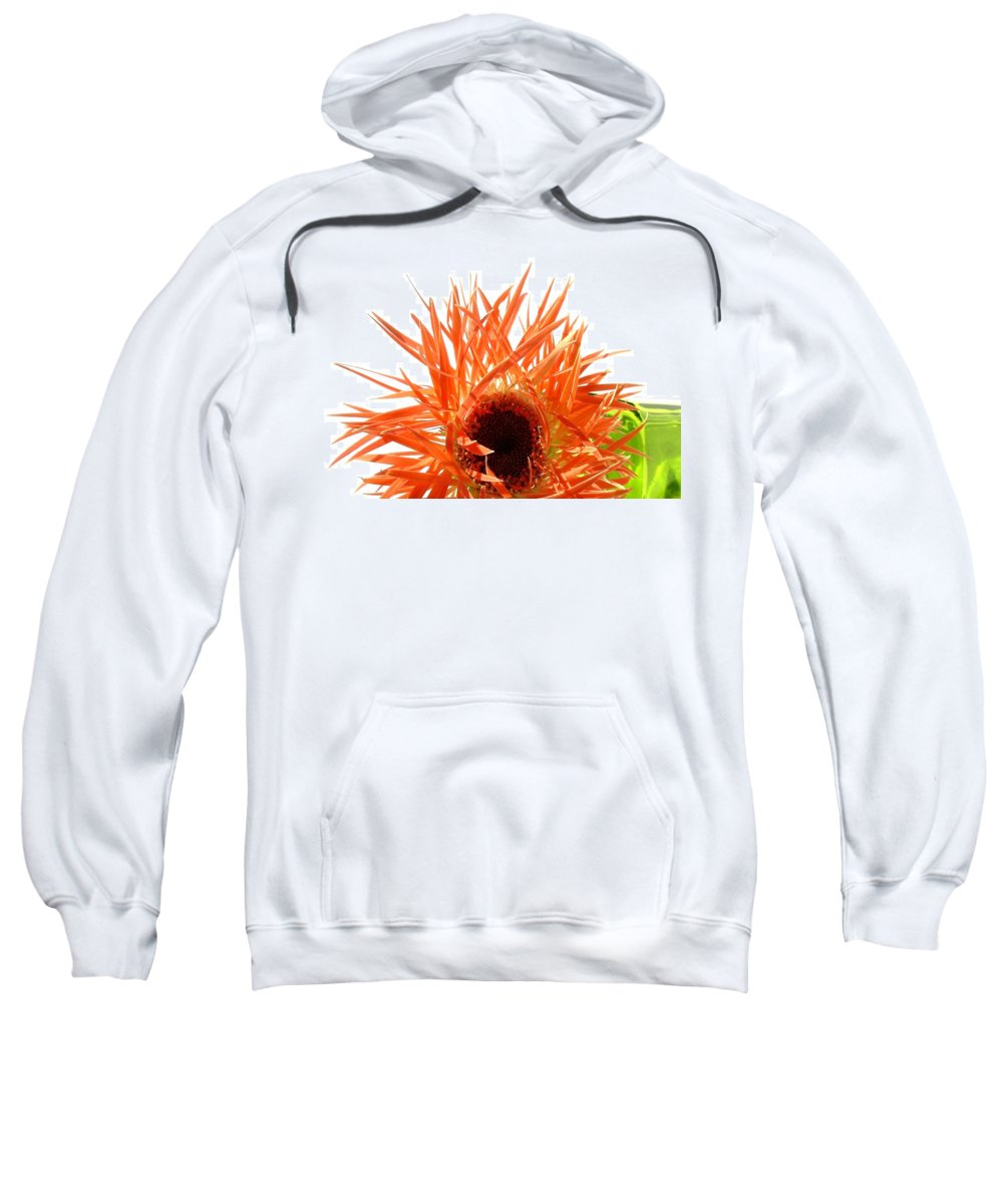 Gerbera Photographs Sweatshirt featuring the photograph 0690c-010 by Kimberlie Gerner