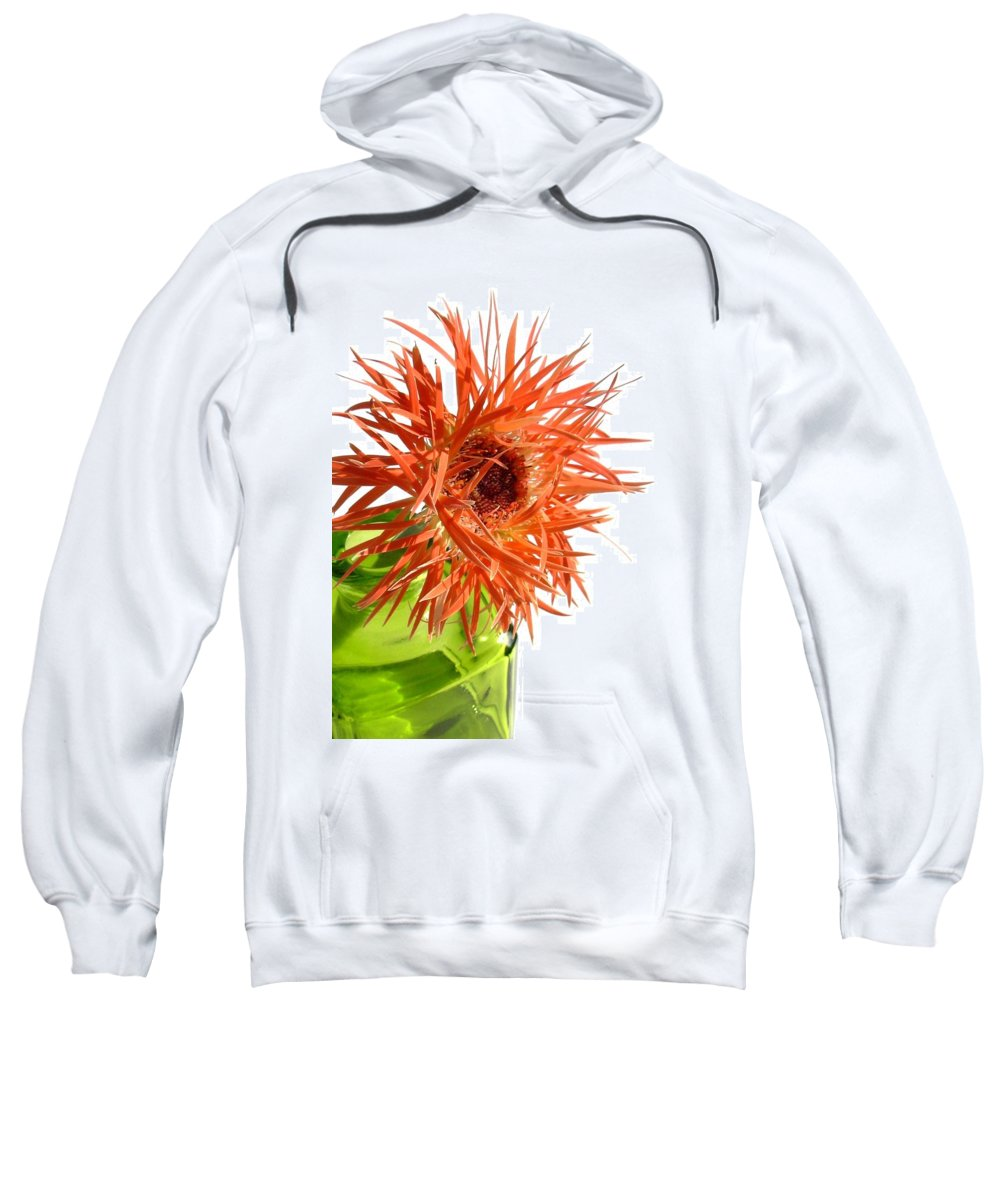 Gerbera Photographs Sweatshirt featuring the photograph 0694c-002 by Kimberlie Gerner