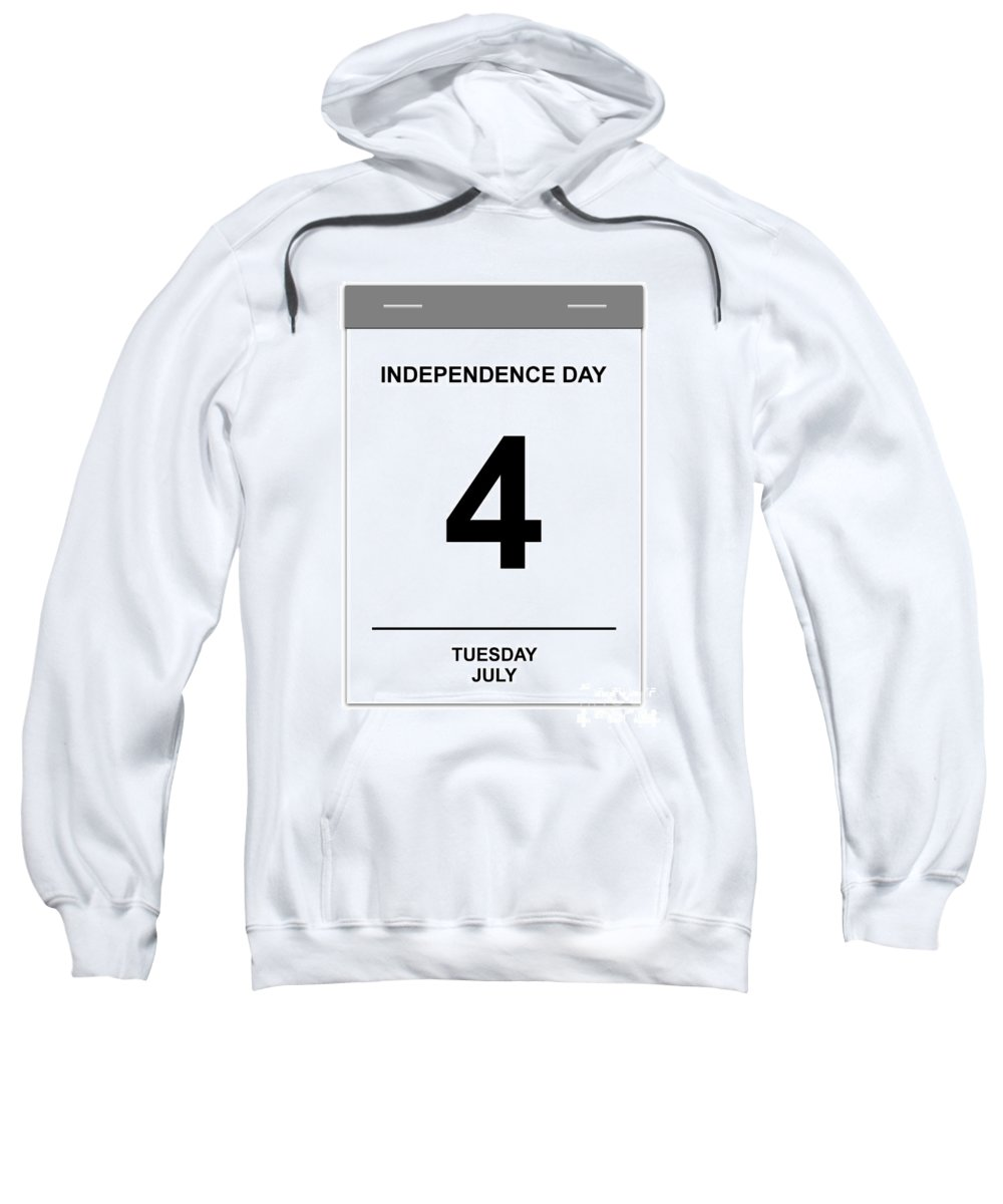 Numbers Sweatshirt featuring the digital art 4th July by Henrik Lehnerer