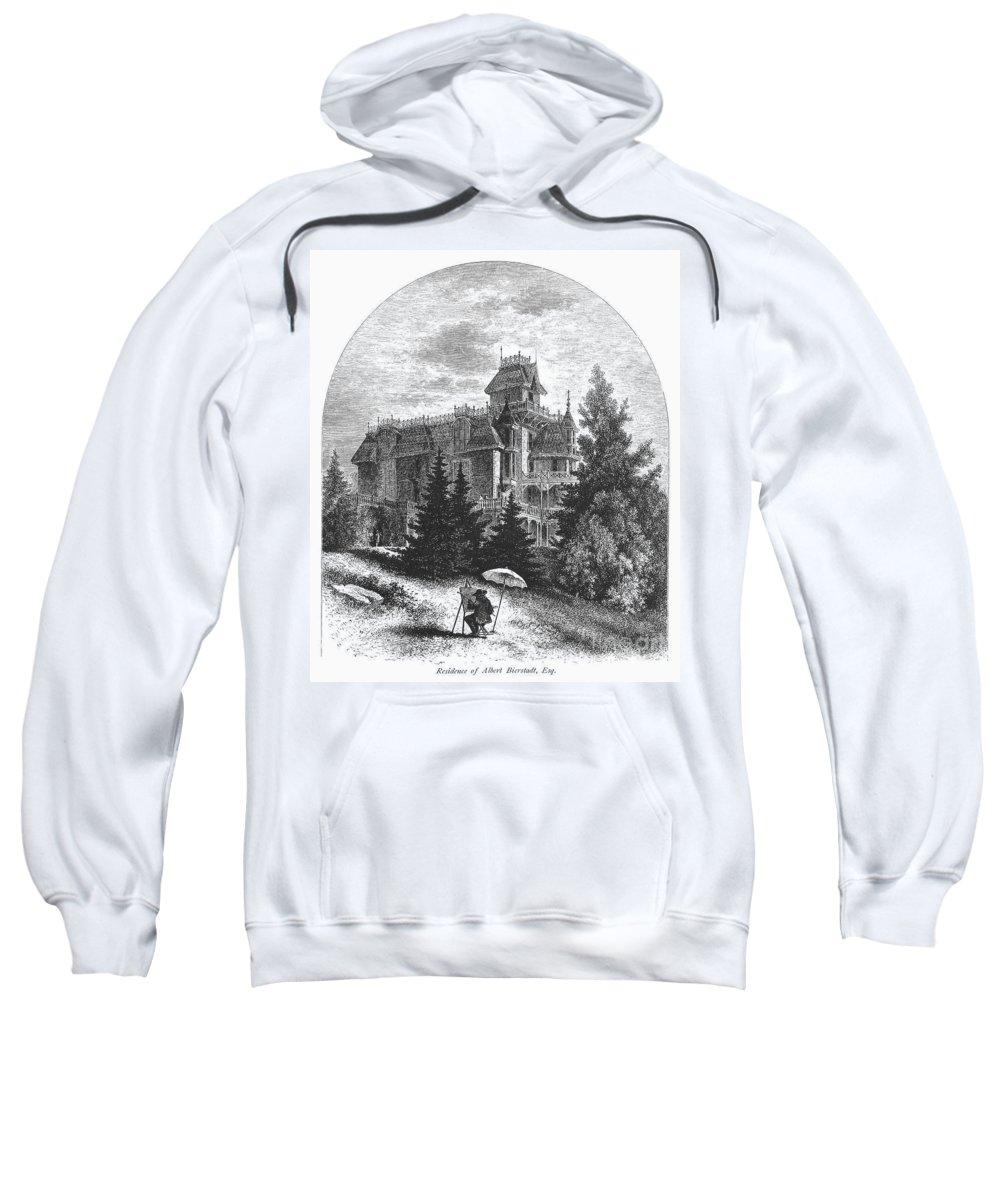 1876 Sweatshirt featuring the photograph Albert Bierstadt (1830-1902) by Granger
