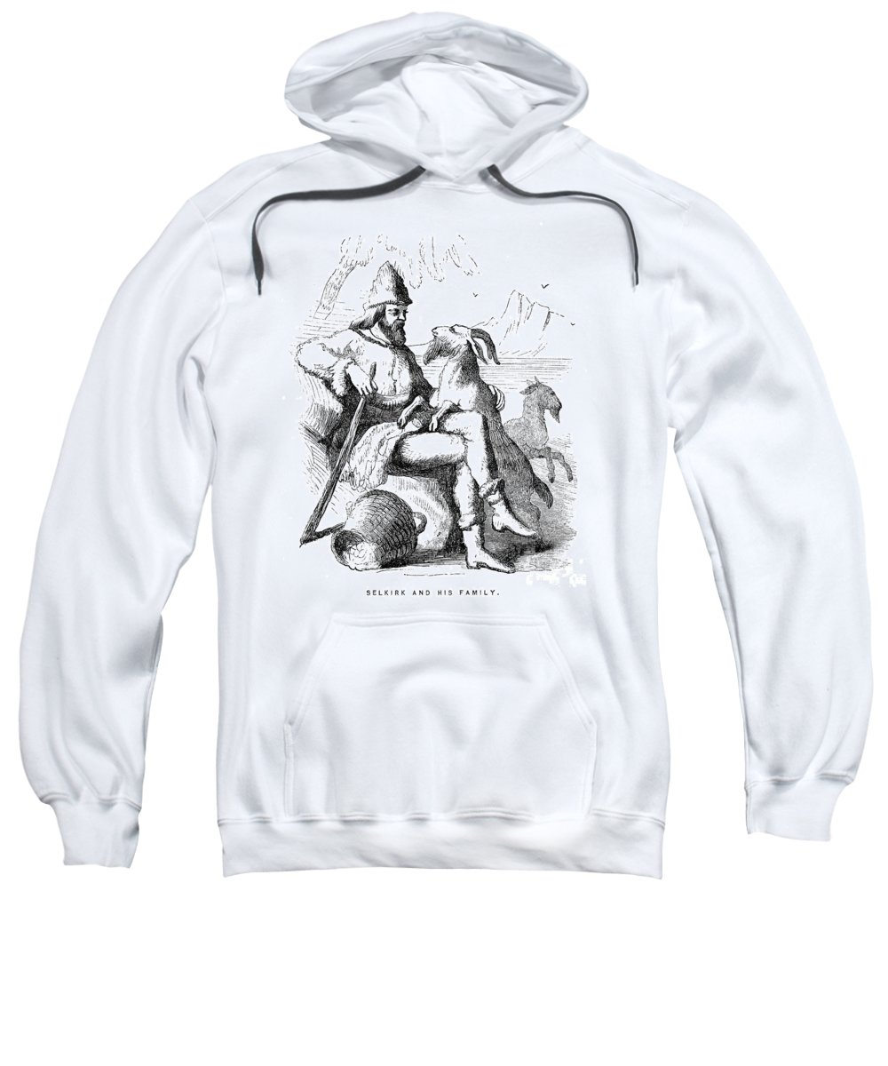 1704 Sweatshirt featuring the photograph Alexander Selkirk by Granger