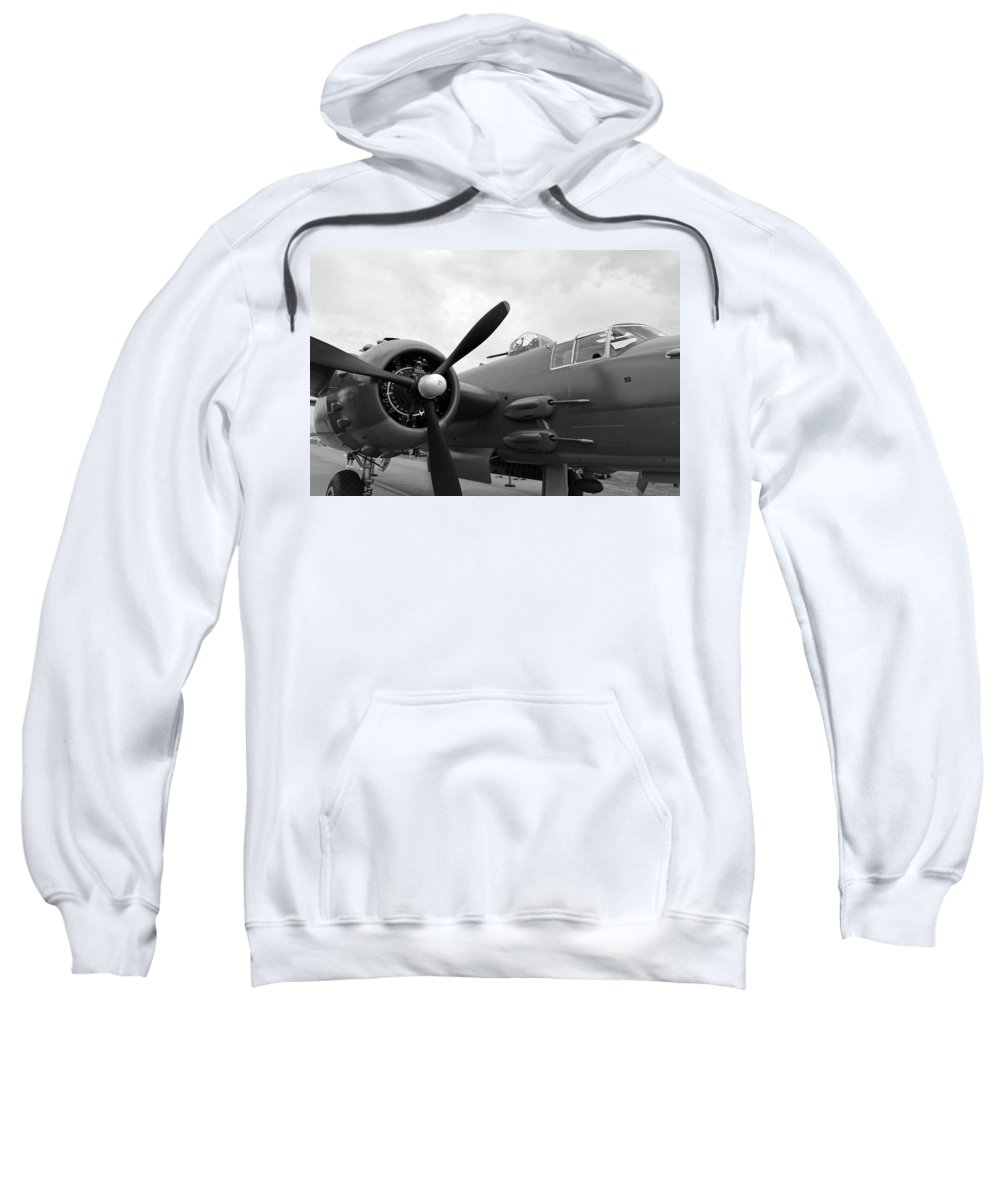 Air Sweatshirt featuring the B25 Bomber by Paul Fell