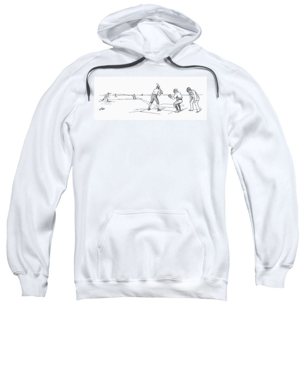 1889 Sweatshirt featuring the photograph Baseball Game, 1889 by Granger
