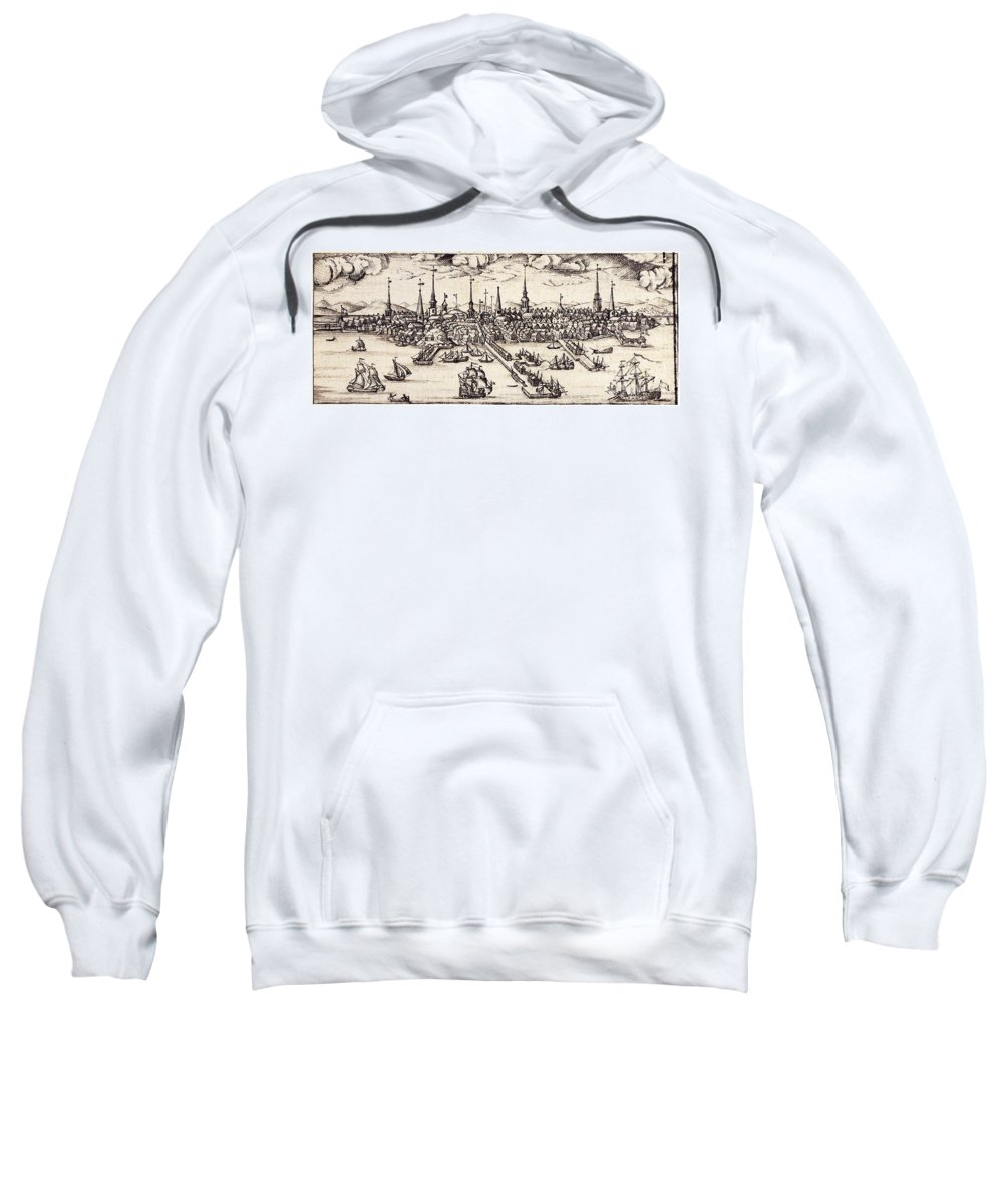 1743 Sweatshirt featuring the photograph Boston, 1743 by Granger