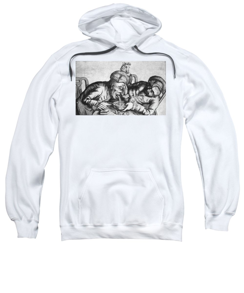 History Sweatshirt featuring the photograph Caricature Of Two Alcoholics, 1773 by Science Source