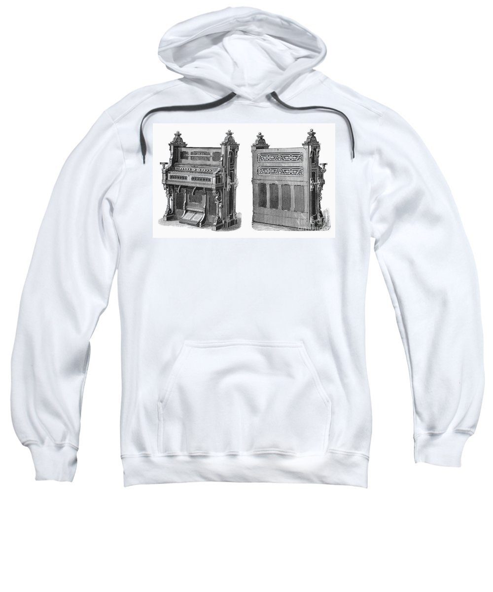 19th Century Sweatshirt featuring the photograph Chapel Organ, 19th Century by Granger