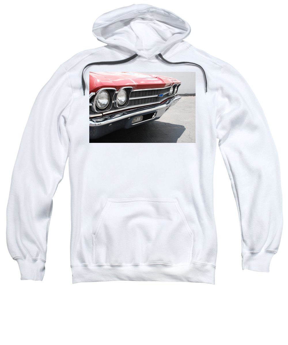 Chevy Sweatshirt featuring the photograph Cherry Chevelle by Rob Hans