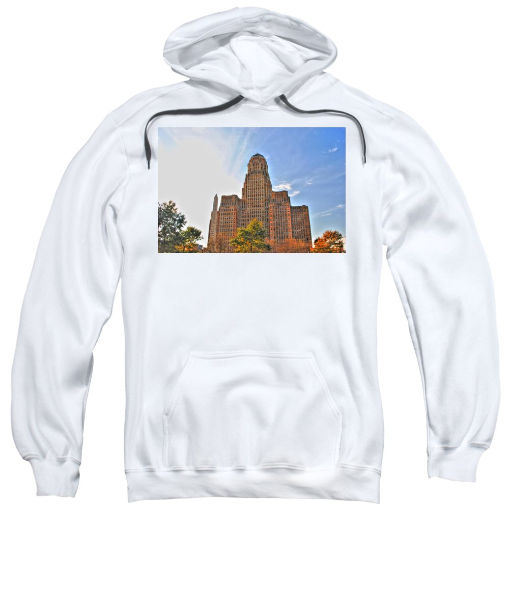 Sweatshirt featuring the photograph City Hall by Michael Frank Jr