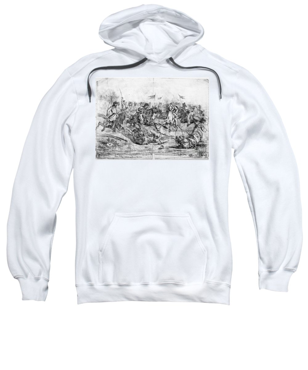 1864 Sweatshirt featuring the photograph Civil War: Cavalry Charge by Granger