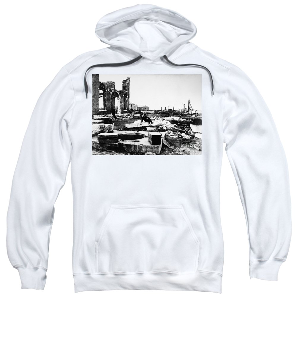 1865 Sweatshirt featuring the photograph Civil War: Charleston by Granger