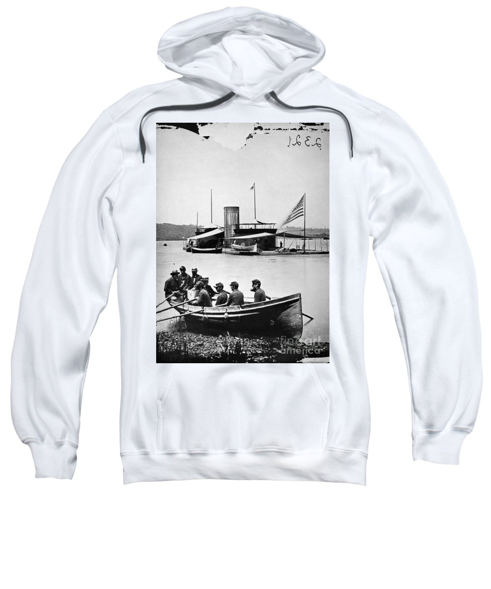 1860s Sweatshirt featuring the photograph Civil War: Monitor by Granger