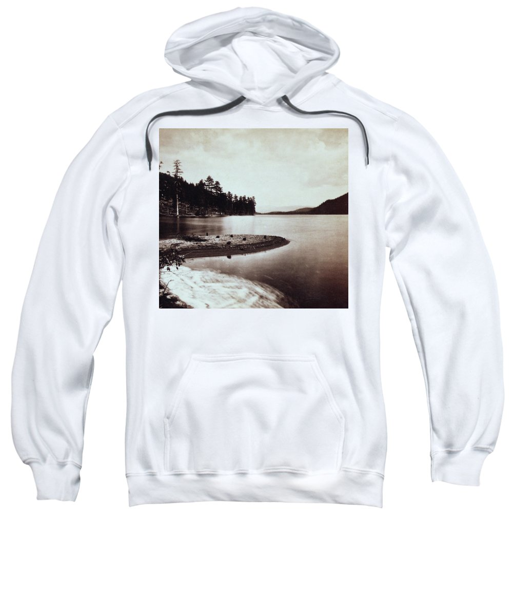 donner Lake Sweatshirt featuring the photograph Donner Lake - California - C 1865 by International Images