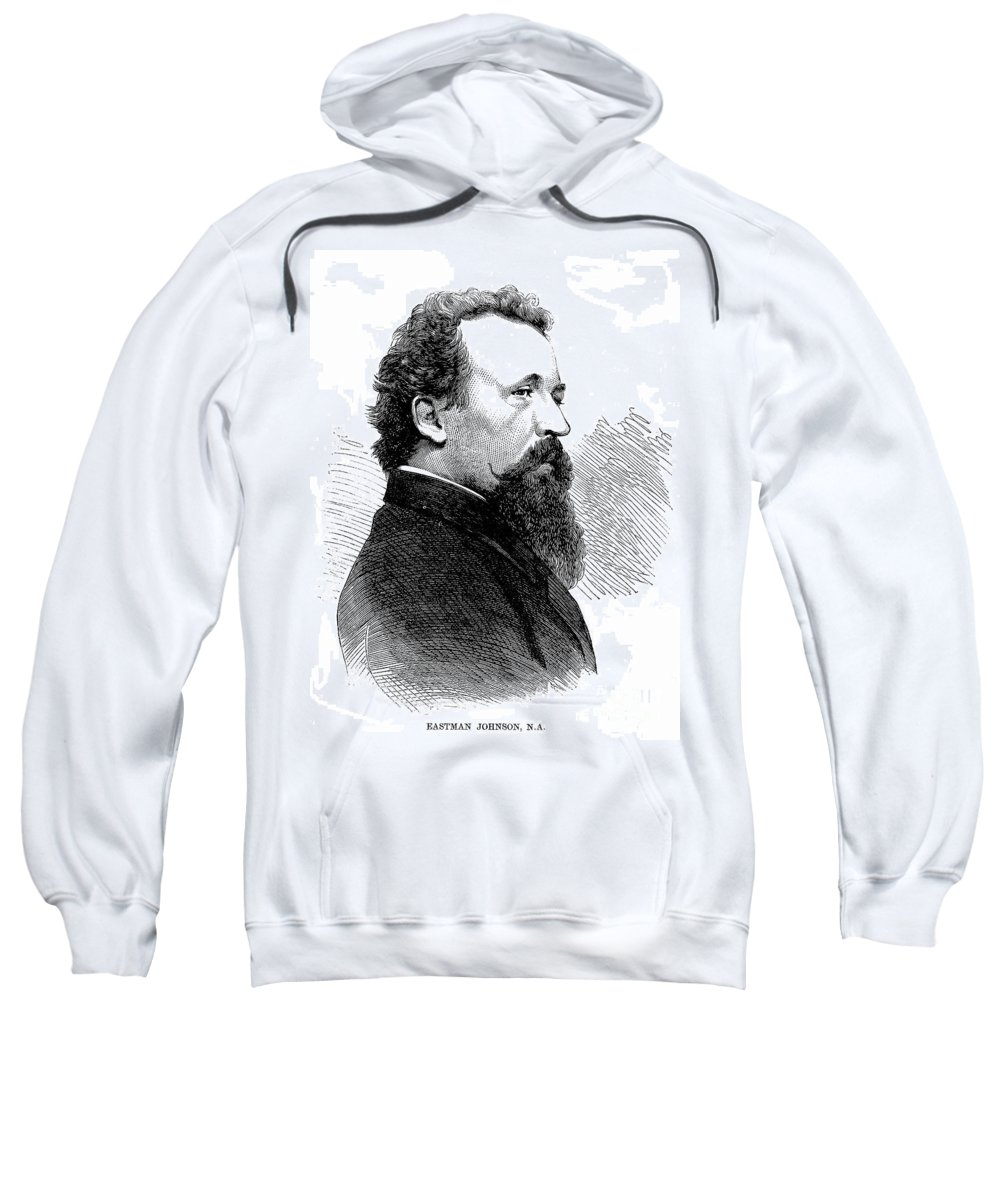 1867 Sweatshirt featuring the photograph Eastman Johnson (1824-1906) by Granger
